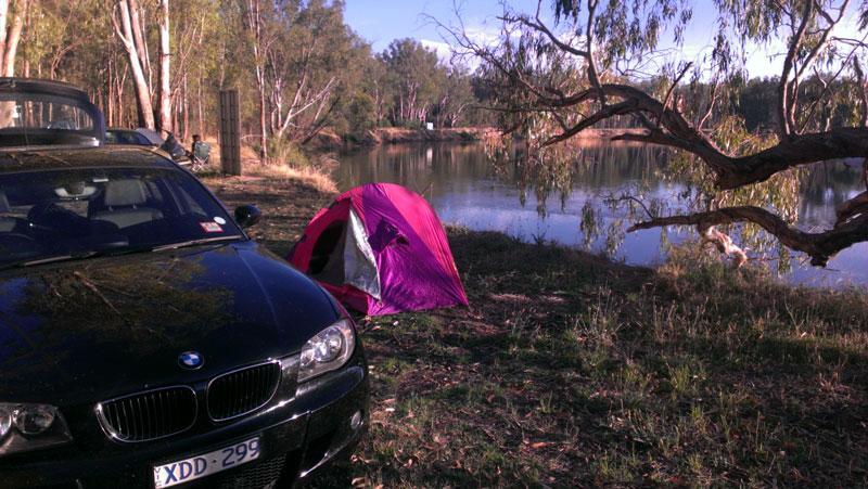 Camping At Finley Beach Vic