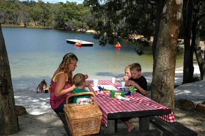 Camping At Lake Leschenaultia