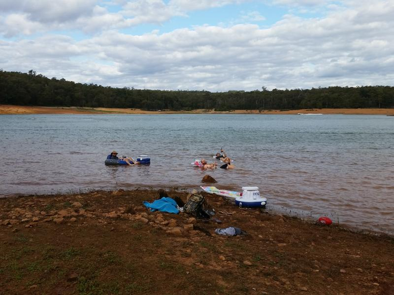 Lake Navarino - Lakeside CampingIn the water at Waroona Dam (Lake Navarino)