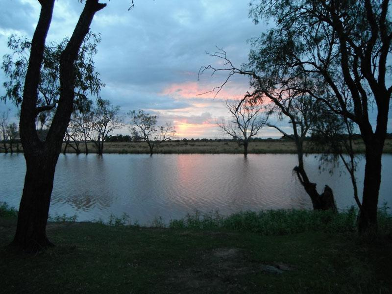 Camping At Caliguel Lagoon Qld