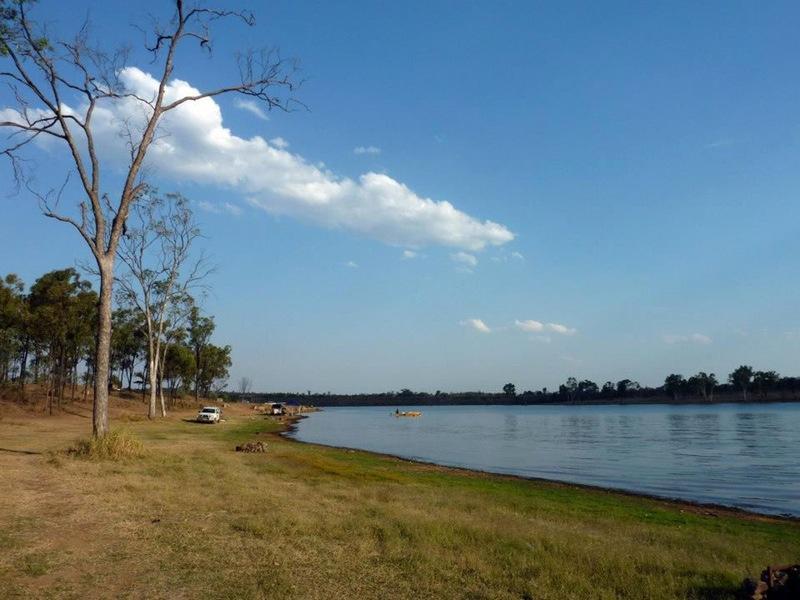 Camping at Bundoora Dam - QLD
